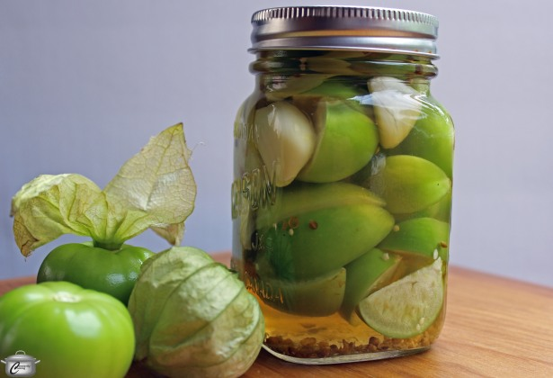 A spicy brine makes fresh tomatillos sparkle as a pickled condiment that can be used in many different ways.