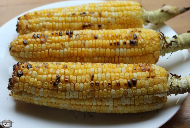 Grilling is a great way to enhance corn's flavour but you can make this recipe with boiled corn as well.