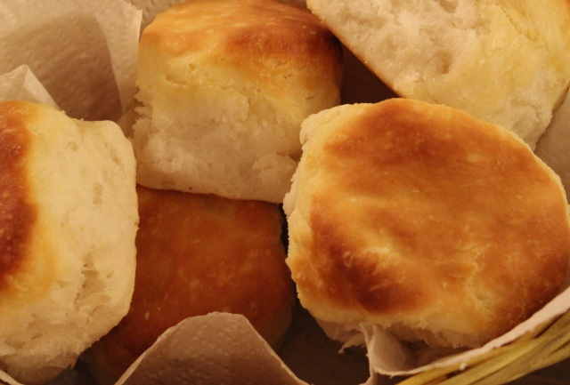 Fluffy, flaky buttermilk biscuits like those from the Roanoker Restaurant are a Southern favourite.
