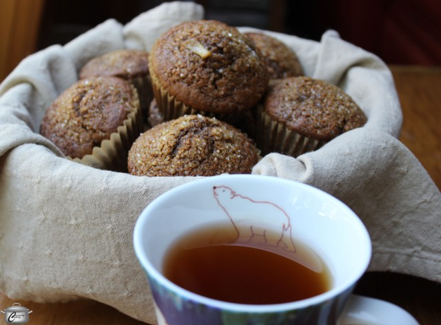Fragrant with spices and studded with diced pear, these muffins are incredibly moist and delicious.