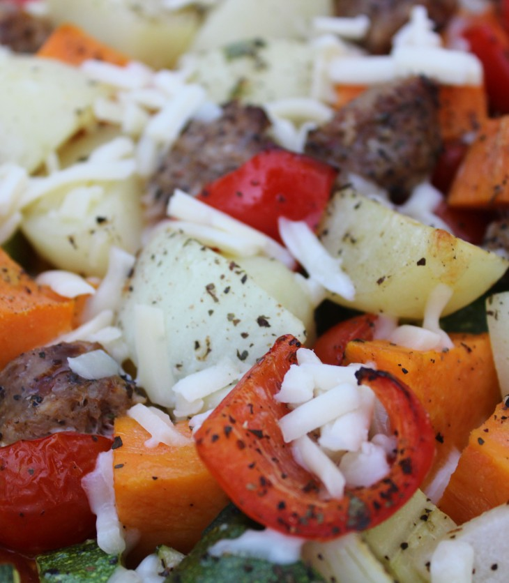 sausage and vegetable bake