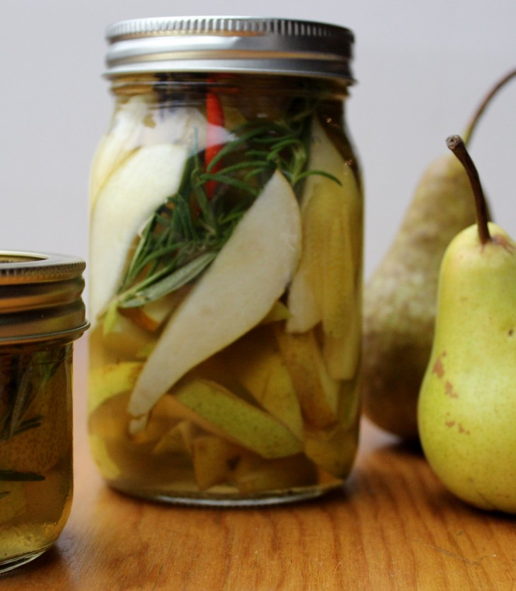 Sweet-Spicy Pickled Pears