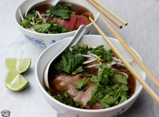Warming Pho or Vietnamese Beef Noodle Soup is a delicious dish to prepare at home.