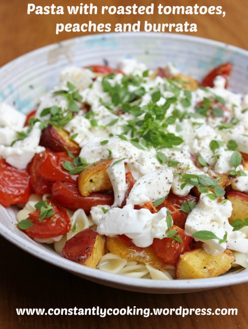 pasta_tomato_peach_burrata_text