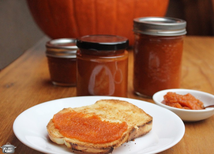 Spiced Pumpkin Spread is a delicious way to recycle your jack-o'-lantern