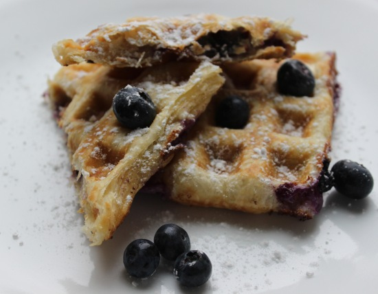 blueberry cream cheese stuffed waffles