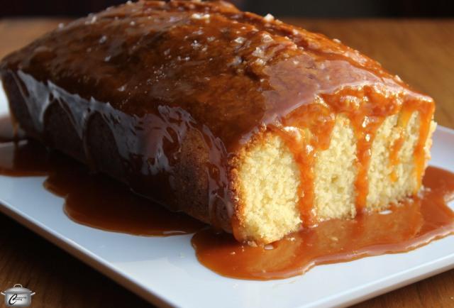Vanilla Pound Cake with Salted Caramel Glaze
