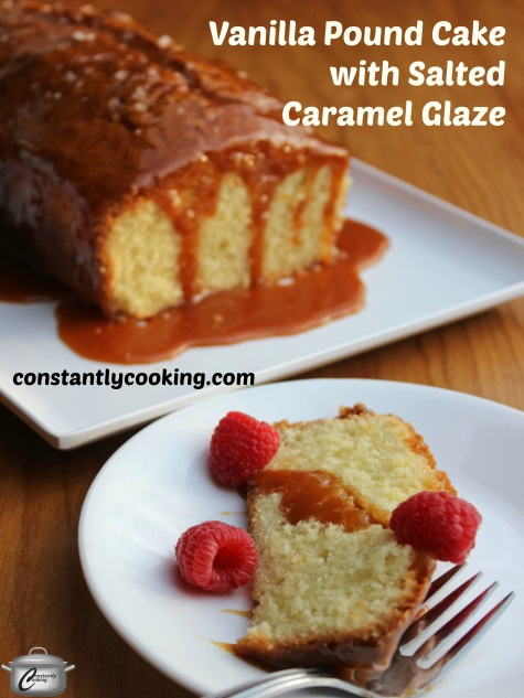Vanilla Pound Cake with Salted Caramel Glaze