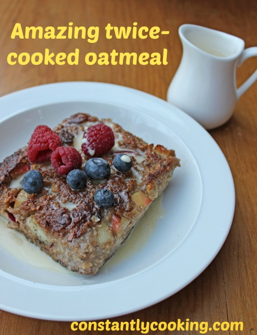 Twice-cooked oatmeal squares pinnable