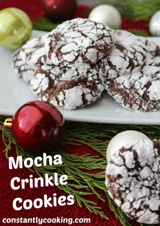 mocha crinkle cookies pinterest