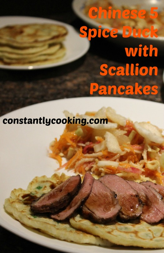Chinese 5 spice duck with scallion pancake pinterest