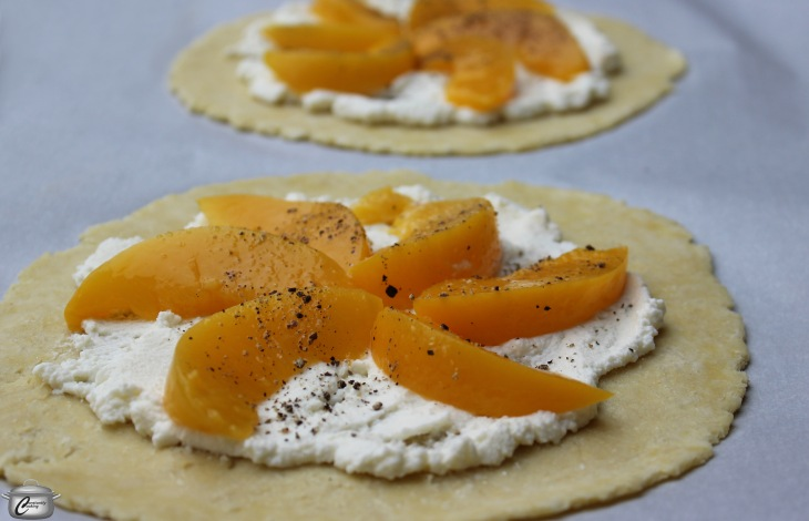 Peach Tart in process