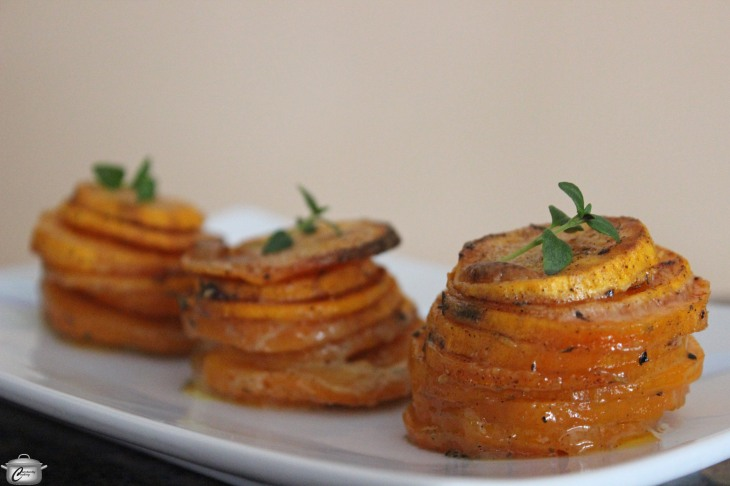 Spiced Sweet Potato Stacks