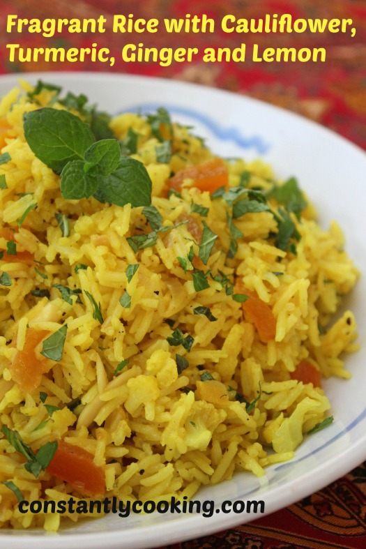 Fragrant Rice with Turmeric Ginger and Lemon