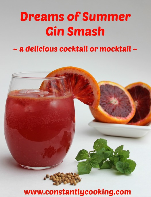 Blood Orange Gin Smash Pinterest