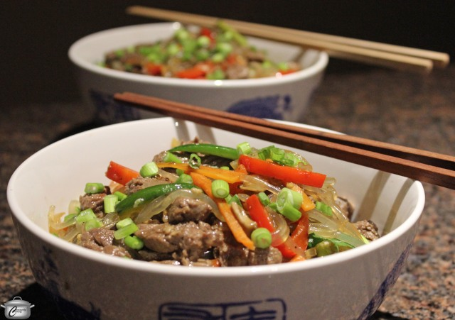 Japchae Sweet Potato Noodle Stirfry