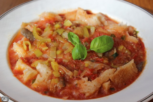 Tuscan Tomato Leek and Bread Soup