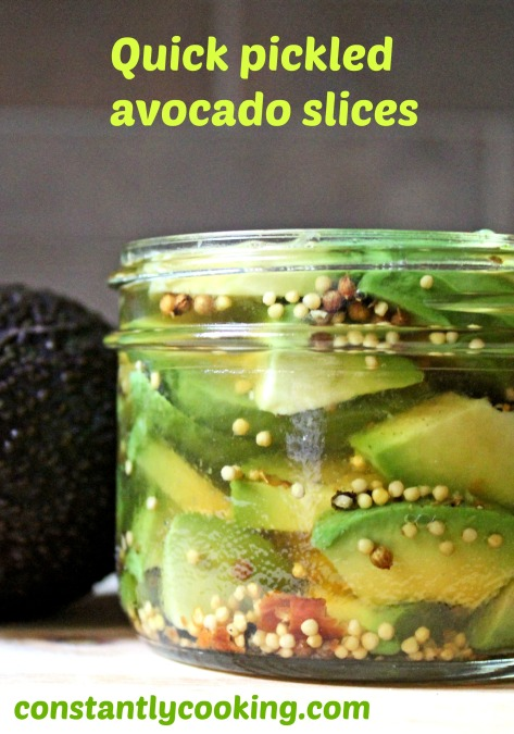 Avocados are ideal for pickling and can be used in many different dishes