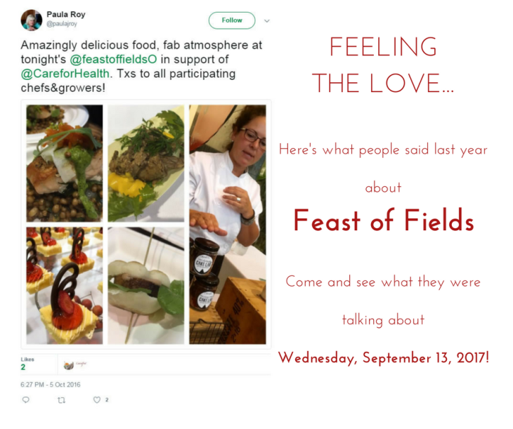 Feast of Fields Tweet