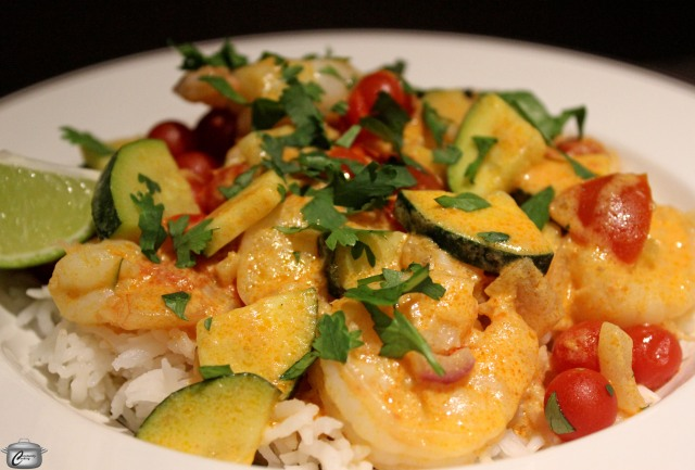 quick shrimp or chicken curry