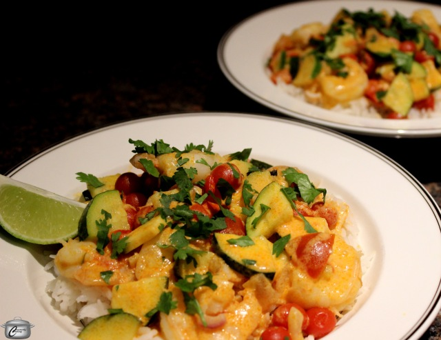 Thai-style shrimp or chicken curry