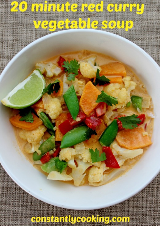 quick red curry vegetable soup