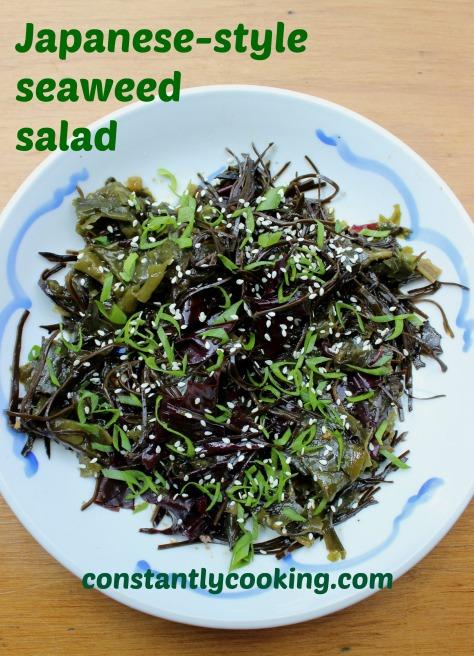 Japanese style seaweed salad