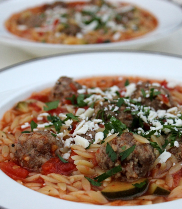 lamb meatball stew with pasta