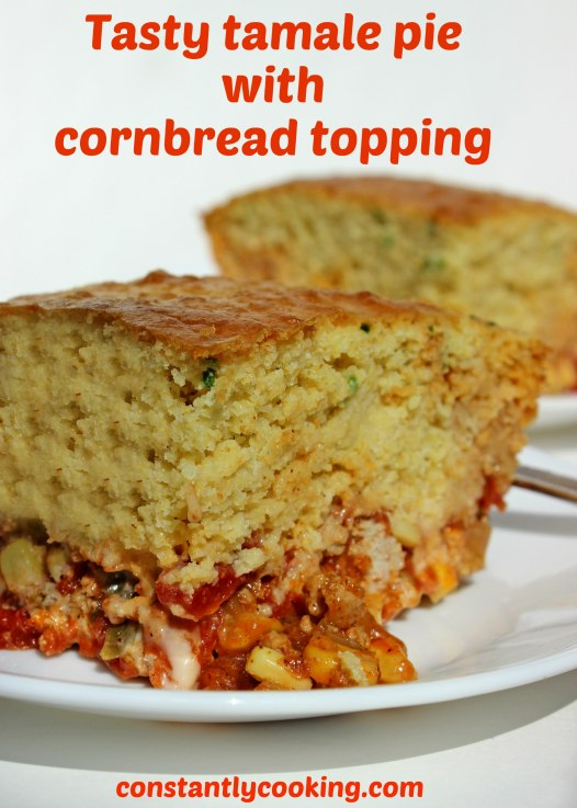 tasty tamale pie with cornbread topping