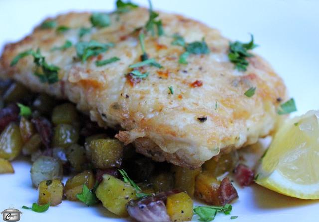 crispy pan fried halibut