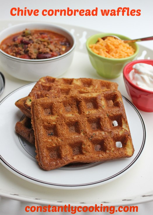 cornbread waffles with chives