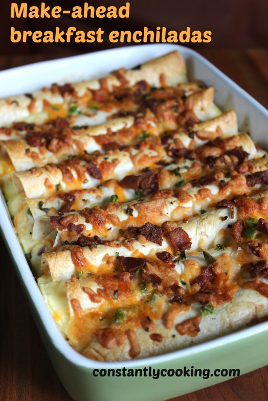 make-ahead breakfast enchiladas are easy and delicious