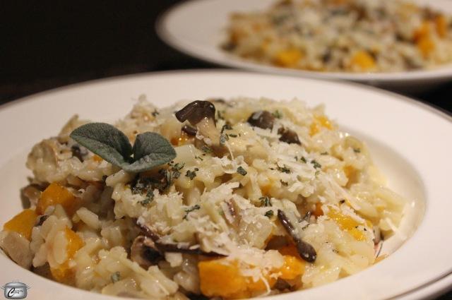 mushroom risotto closeup wm
