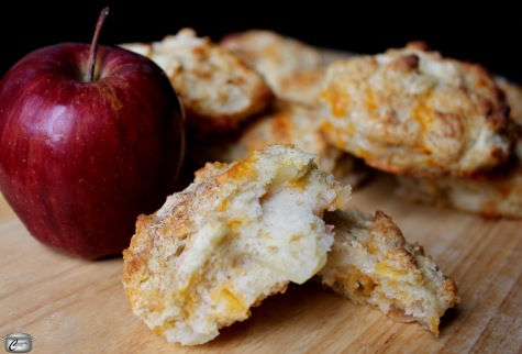 Baking powder biscuits are an even bigger treat when you add diced apples and grated cheddar