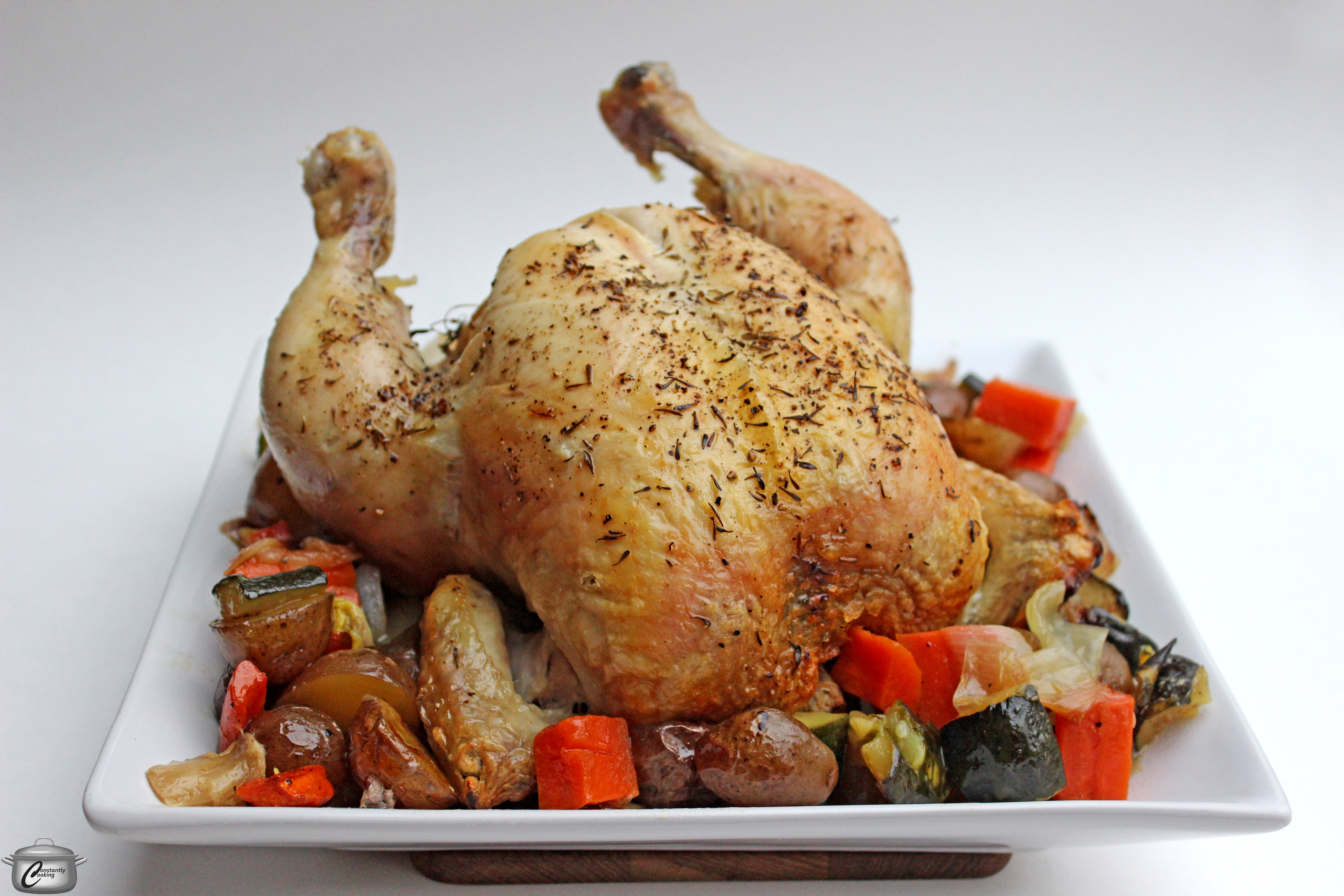 Amazingly Delicious Roast Chicken And Vegetables