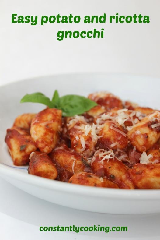 easy potato and ricotta gnocchi recipe