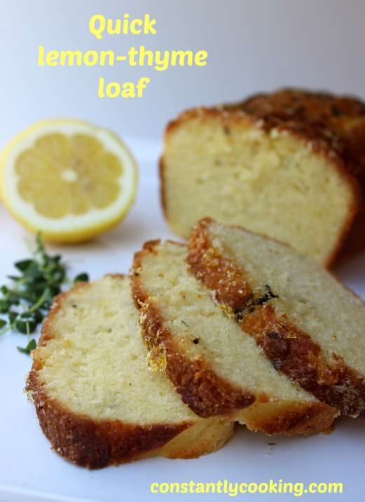 quick bread with lemon and thyme