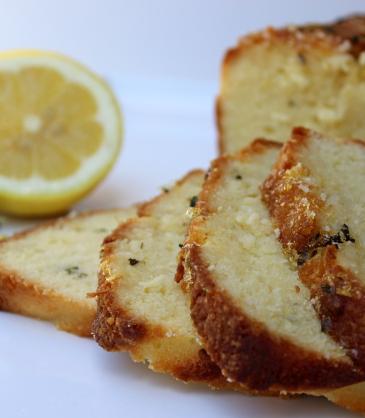 quick bread made with lemon and thyme