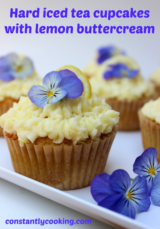 delicious cupcakes with lemon buttercream on top
