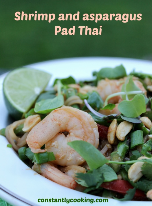 shrimp and asparagus Pad Thai