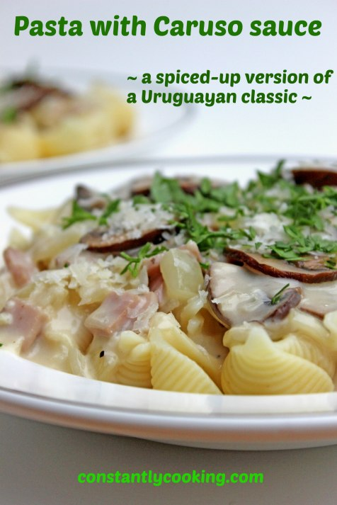 A spiced-up version of a Uruguayan favourite - Pasta with Caruso sauce