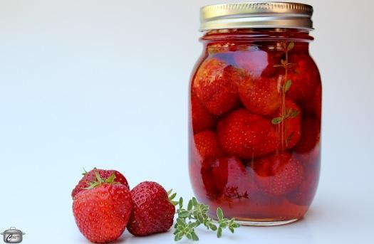 quick pickled fresh strawberries