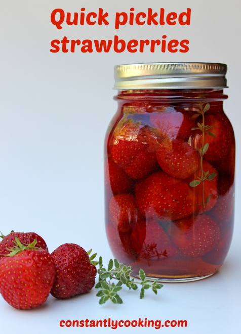 quick pickles fresh strawberries