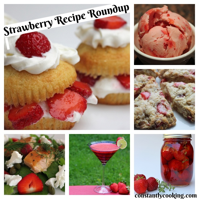 a collection of strawberry recipes