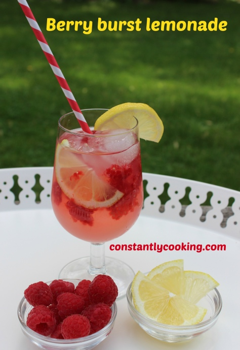 simple syrup fresh lemon juice and berries make for a refreshing drink
