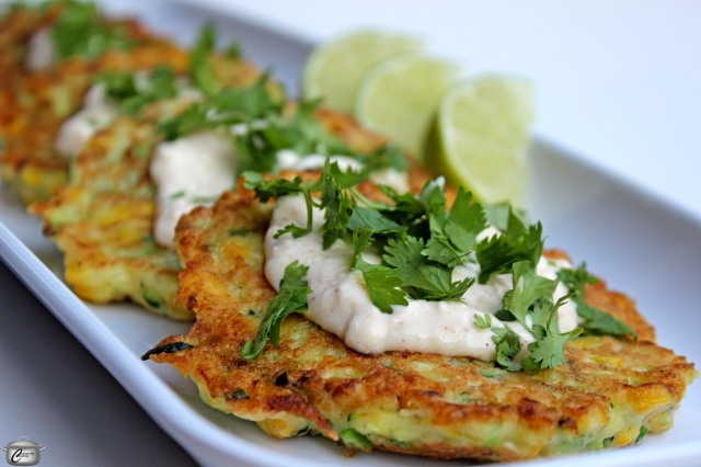 grated zucchini cooked corn in a gorgeous batter makes for delicious crispy fritters