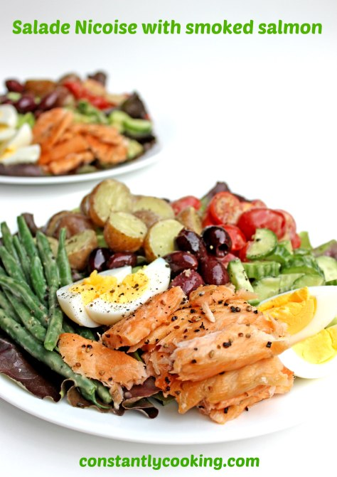 Classic French salade nicoise gets a delicious makeover with smoked salmon