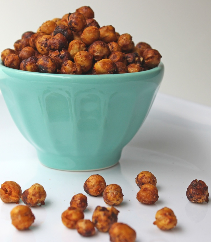 roasted chickpeas with chili-lime coating