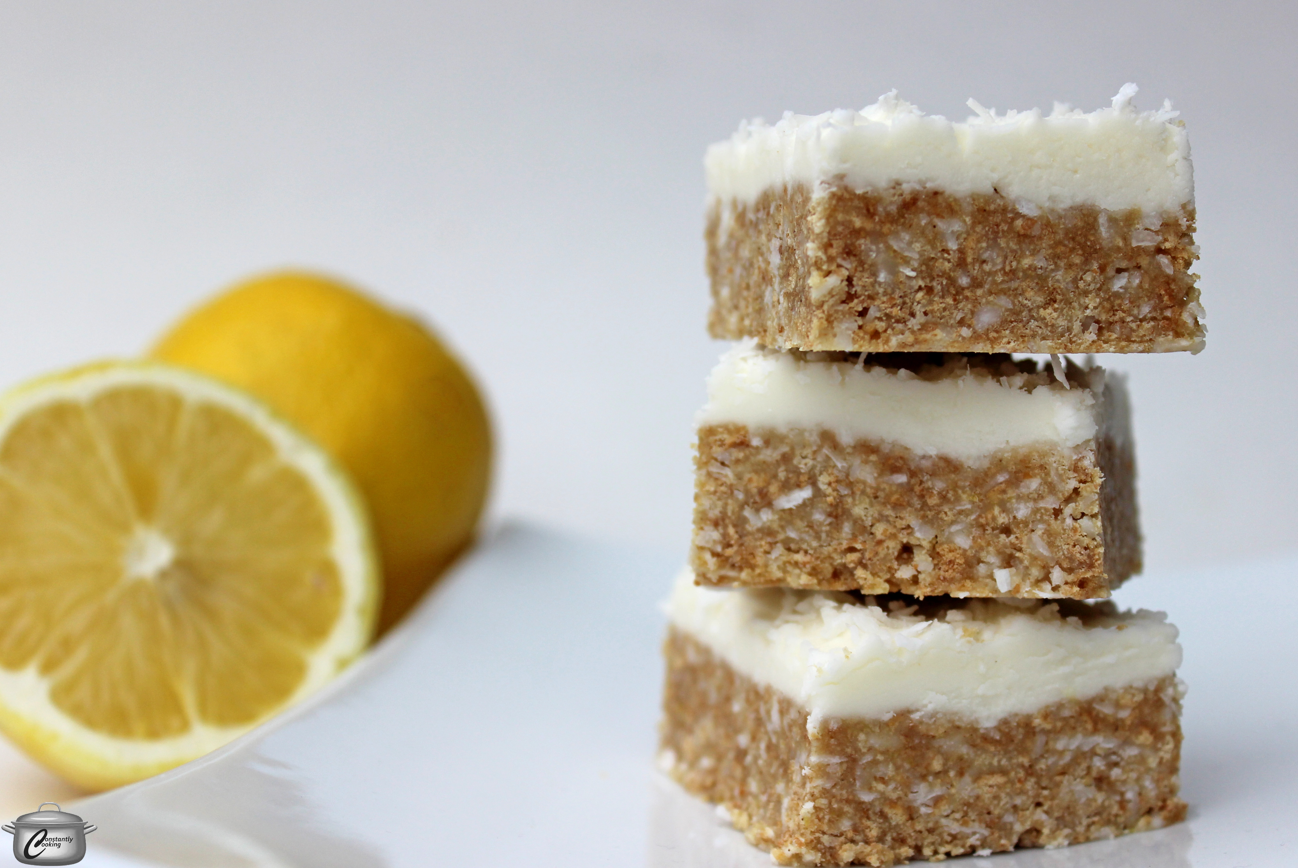 No Bake Lemon Coconut Squares Constantly Cooking