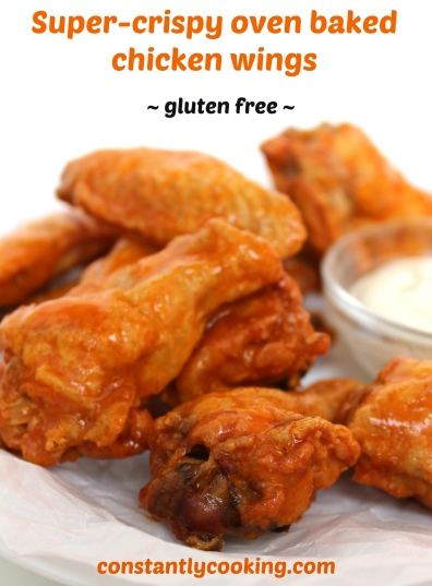 super crispy oven baked chicken wings are so delicious and so easy to make.
